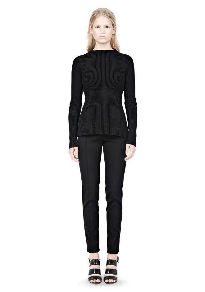 ALEXANDER WANG PINCHED WAIST KNIT PULLOVER