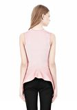 ALEXANDER WANG OPTICAL STRIPE PEPLUM TANK Sleeveless jumper Adult 8_n_d
