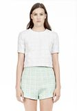 T by ALEXANDER WANG GRID JACQUARD BONDED NEOPRENE SHORT SLEEVE TOP Short sleeve t-shirt Adult 8_n_e