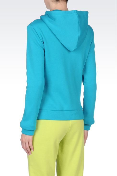 FULL ZIP HOODED SWEATSHIRT: Hoodies Women by Armani - 3