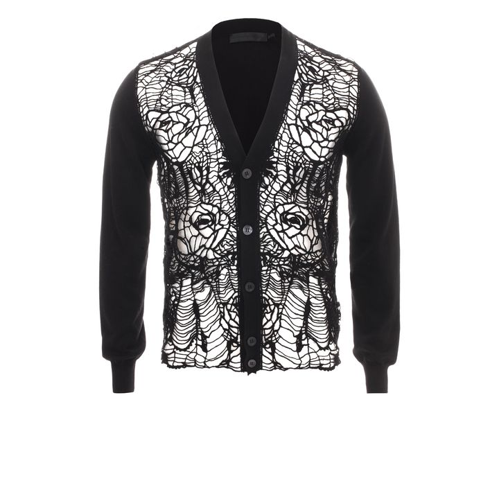 Alexander McQueen, Floral Web Knit Cardigan