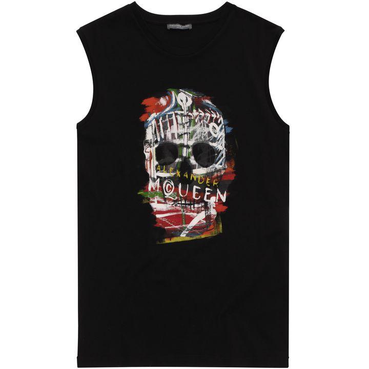 Alexander McQueen, Graphic Skull Print Oversized Vest