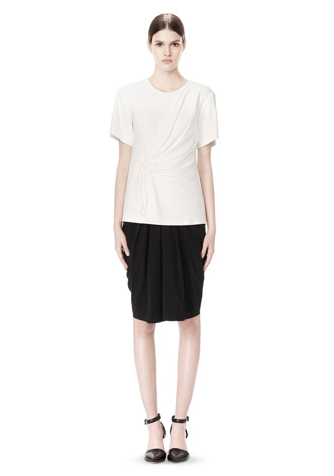 ALEXANDER WANG EXCLUSIVE GATHERED CASCADE TEE