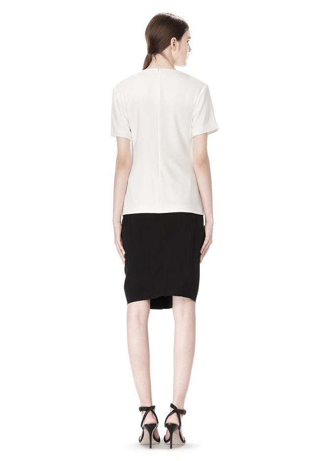 ALEXANDER WANG EXCLUSIVE GATHERED CASCADE TEE TOP Adult 12_n_r
