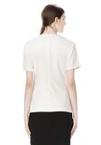 ALEXANDER WANG EXCLUSIVE GATHERED CASCADE TEE TOP Adult 8_n_d