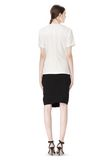 ALEXANDER WANG EXCLUSIVE GATHERED CASCADE TEE TOP Adult 8_n_r