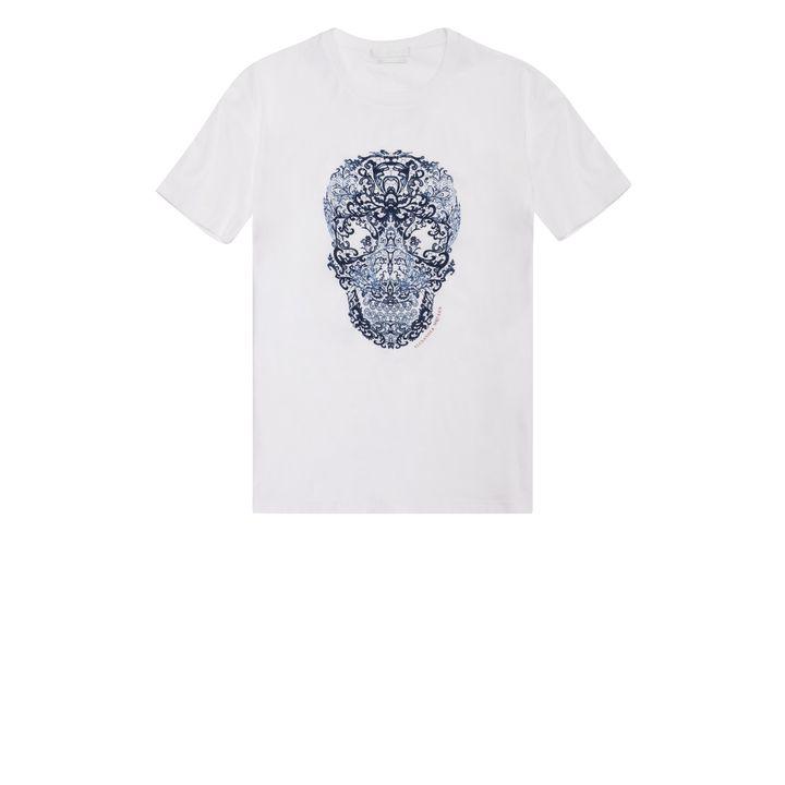 Alexander McQueen, Lace Skull Print T-Shirt