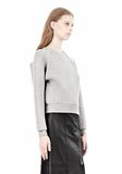ALEXANDER WANG DOUBLE FACED CROP PULLOVER NEOPRENE Crewneck Adult 8_n_a
