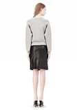ALEXANDER WANG DOUBLE FACED CROP PULLOVER NEOPRENE Crewneck Adult 8_n_r