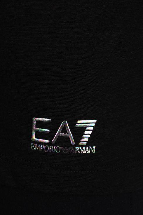 V NECK COTTON T-SHIRT: Long sleeved t-shirts Women by Armani - 4