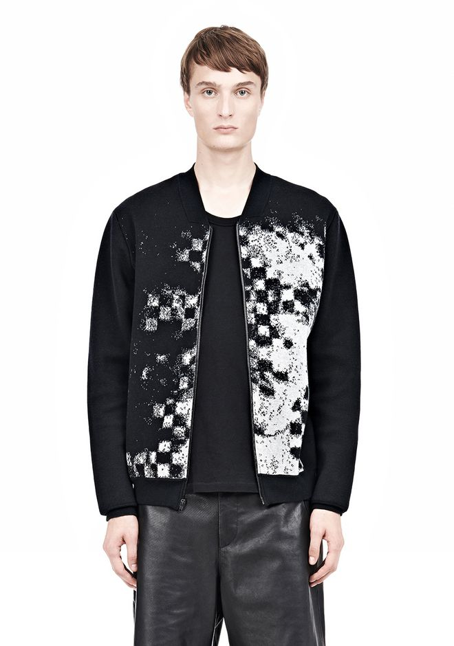ALEXANDER WANG FINE GAUGE JACQUARD BOMBER JACKETS AND OUTERWEAR  Adult 12_n_a