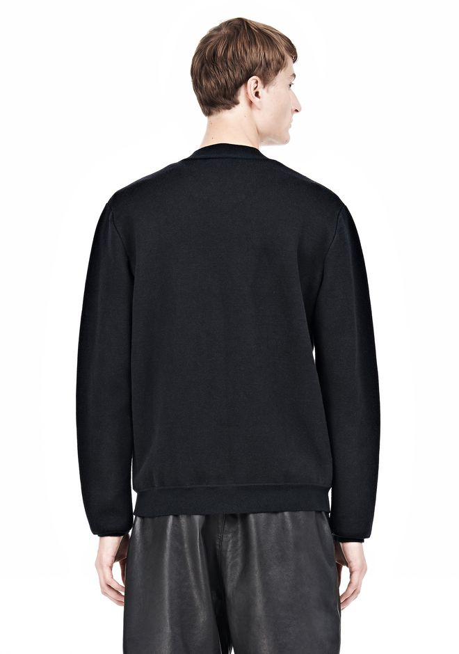 ALEXANDER WANG FINE GAUGE JACQUARD BOMBER JACKETS AND OUTERWEAR  Adult 12_n_d