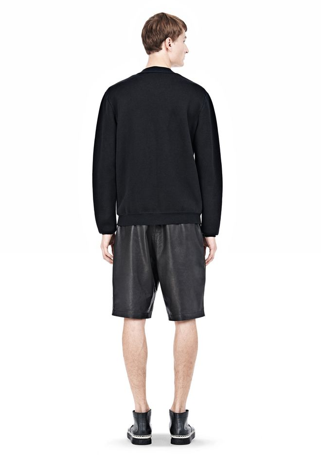 ALEXANDER WANG FINE GAUGE JACQUARD BOMBER JACKETS AND OUTERWEAR  Adult 12_n_r