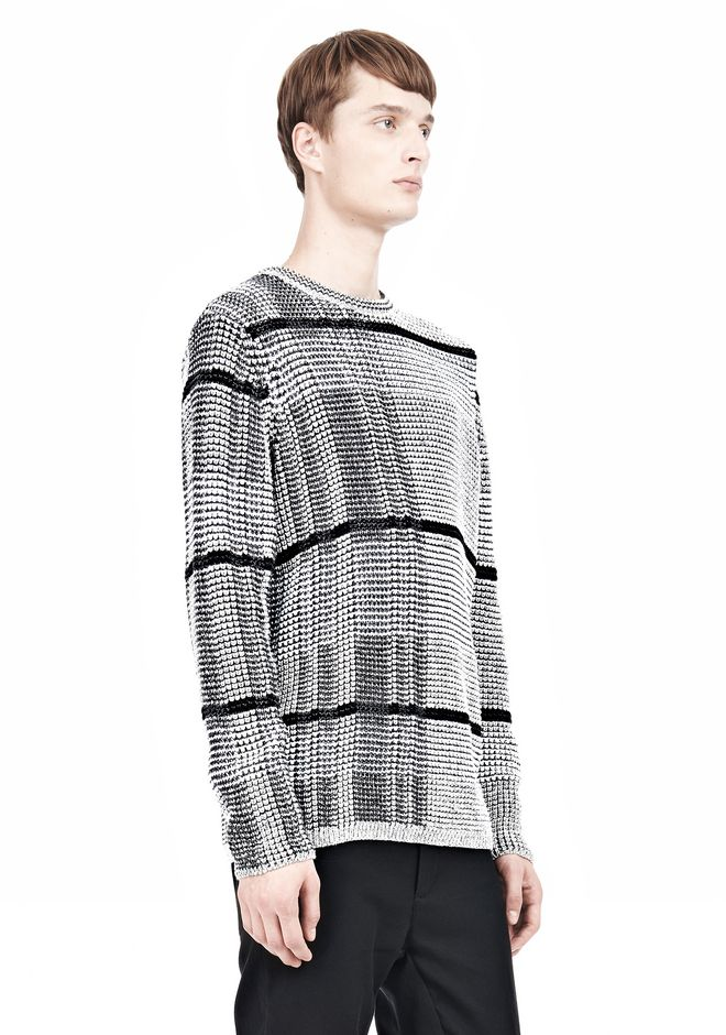 ALEXANDER WANG CHECKERED TUCK JACQUARD PULLOVER TOP Adult 12_n_a