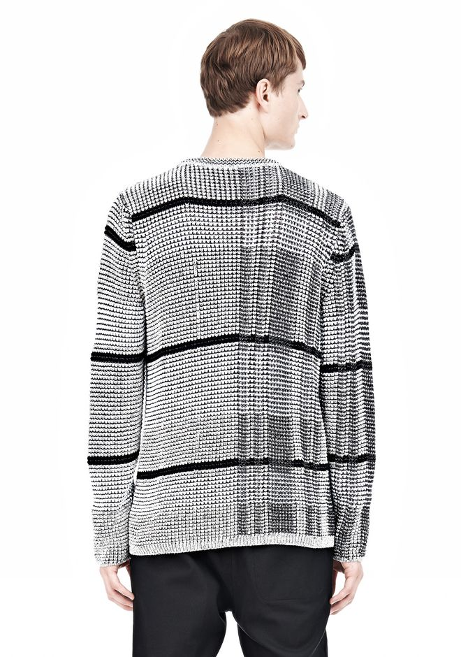 ALEXANDER WANG CHECKERED TUCK JACQUARD PULLOVER TOP Adult 12_n_d