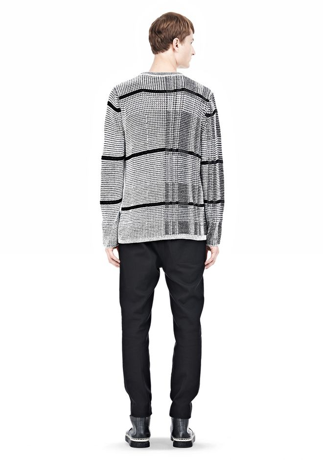 ALEXANDER WANG CHECKERED TUCK JACQUARD PULLOVER TOP Adult 12_n_r