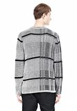 ALEXANDER WANG CHECKERED TUCK JACQUARD PULLOVER TOP Adult 8_n_d