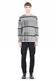 ALEXANDER WANG CHECKERED TUCK JACQUARD PULLOVER TOP Adult 8_n_f