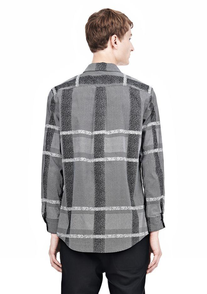 ALEXANDER WANG LONG SLEEVE SHIRT WITH INSET POCKET & SNAP CLOSURE Shirt Adult 12_n_d