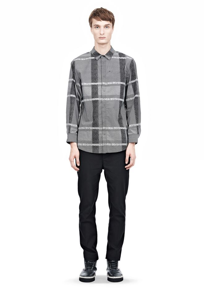 ALEXANDER WANG LONG SLEEVE SHIRT WITH INSET POCKET & SNAP CLOSURE