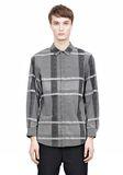 ALEXANDER WANG LONG SLEEVE SHIRT WITH INSET POCKET & SNAP CLOSURE Shirt Adult 8_n_e