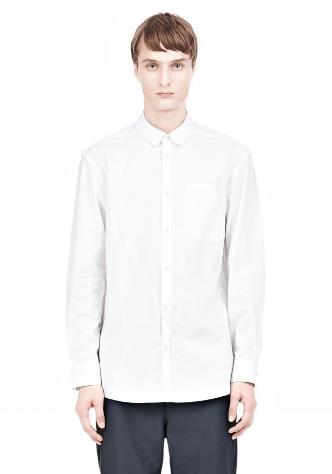 ALEXANDER WANG MULTI SEAM LONG SLEEVE BUTTON DOWN SHIRT Shirt Adult 12_n_e