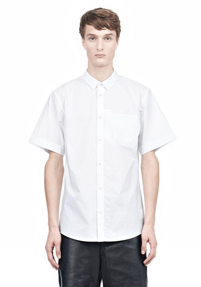 ALEXANDER WANG SHORT SLEEVE BUTTON DOWNSHIRT WITH INSET POCKET Short sleeve shirt Adult 12_n_e