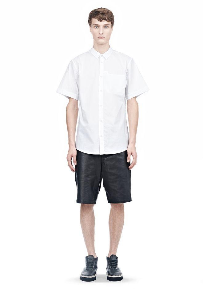 ALEXANDER WANG SHORT SLEEVE BUTTON DOWNSHIRT WITH INSET POCKET Short sleeve shirt Adult 12_n_f