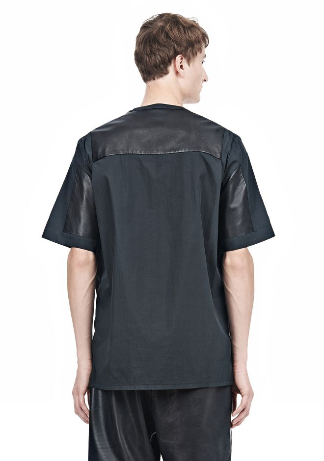 LEATHER PATCHWORK SHORT SLEEVED TEE