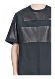 ALEXANDER WANG LEATHER PATCHWORK SHORT SLEEVED TEE Short sleeve t-shirt  8_n_a
