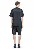 ALEXANDER WANG LEATHER PATCHWORK SHORT SLEEVED TEE Short sleeve t-shirt  8_n_r