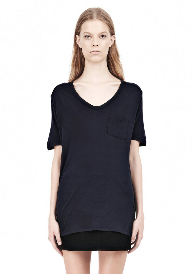 【ALEXANDER WANG】CLASSIC TEE WITH POCKET