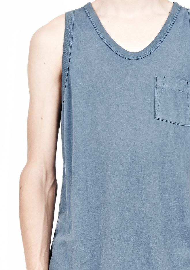 T by ALEXANDER WANG CLASSIC TANK WITH POCKET TEE Adult 12_n_a