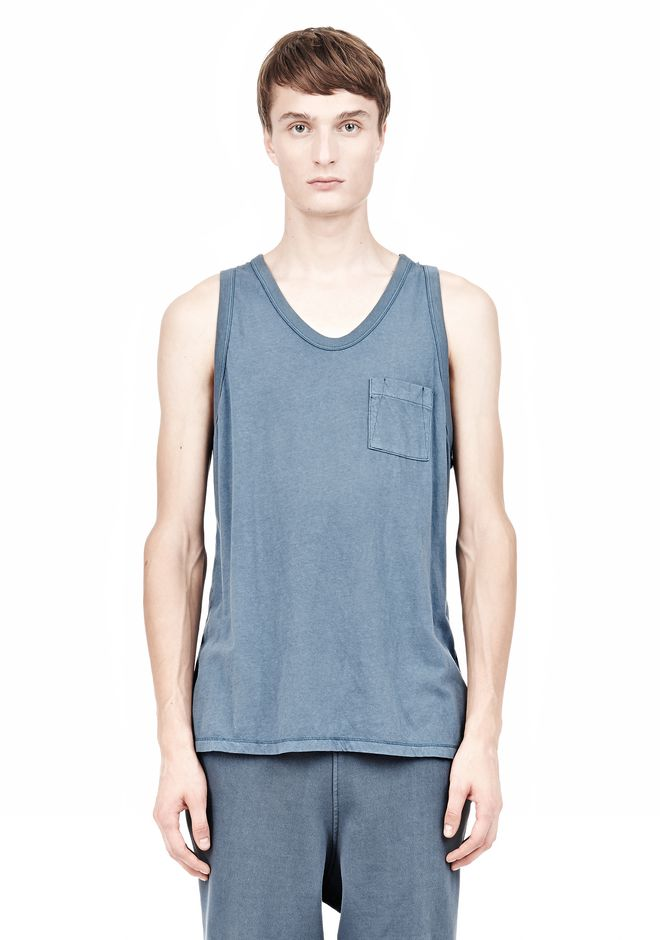 T by ALEXANDER WANG CLASSIC TANK WITH POCKET TEE Adult 12_n_e