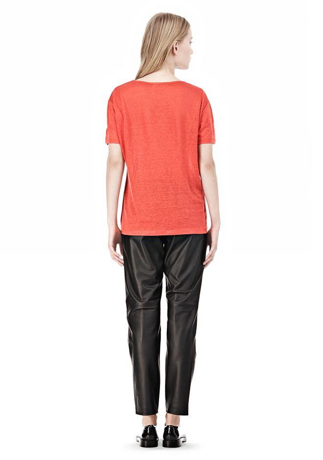 T by ALEXANDER WANG LINEN SILK CREWNECK SHORT SLEEVE TEE Short sleeve t-shirt Adult 12_n_r