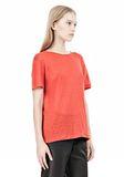 T by ALEXANDER WANG LINEN SILK CREWNECK SHORT SLEEVE TEE Short sleeve t-shirt Adult 8_n_a