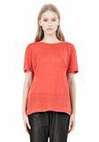 T by ALEXANDER WANG LINEN SILK CREWNECK SHORT SLEEVE TEE Short sleeve t-shirt Adult 8_n_e