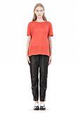 T by ALEXANDER WANG LINEN SILK CREWNECK SHORT SLEEVE TEE Short sleeve t-shirt Adult 8_n_f