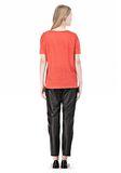 T by ALEXANDER WANG LINEN SILK CREWNECK SHORT SLEEVE TEE Short sleeve t-shirt Adult 8_n_r