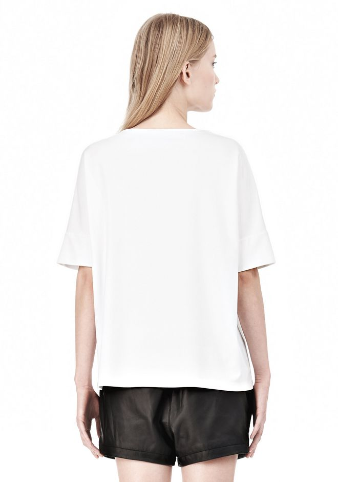 T by ALEXANDER WANG LUX PONTE DOLMAN CREWNECK SHORT SLEEVE TEE Short sleeve t-shirt Adult 12_n_d