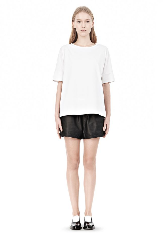 T by ALEXANDER WANG LUX PONTE DOLMAN CREWNECK SHORT SLEEVE TEE Short sleeve t-shirt Adult 12_n_f