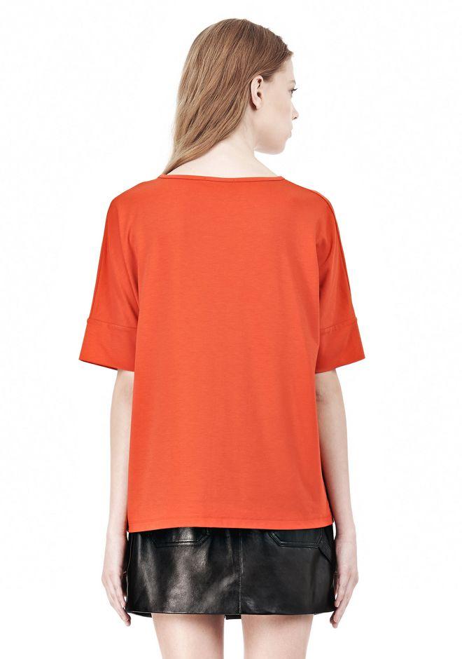 T by ALEXANDER WANG LUX PONTE DOLMAN CREWNECK SHORT SLEEVE TEE Short sleeve t-shirt Adult 12_n_d