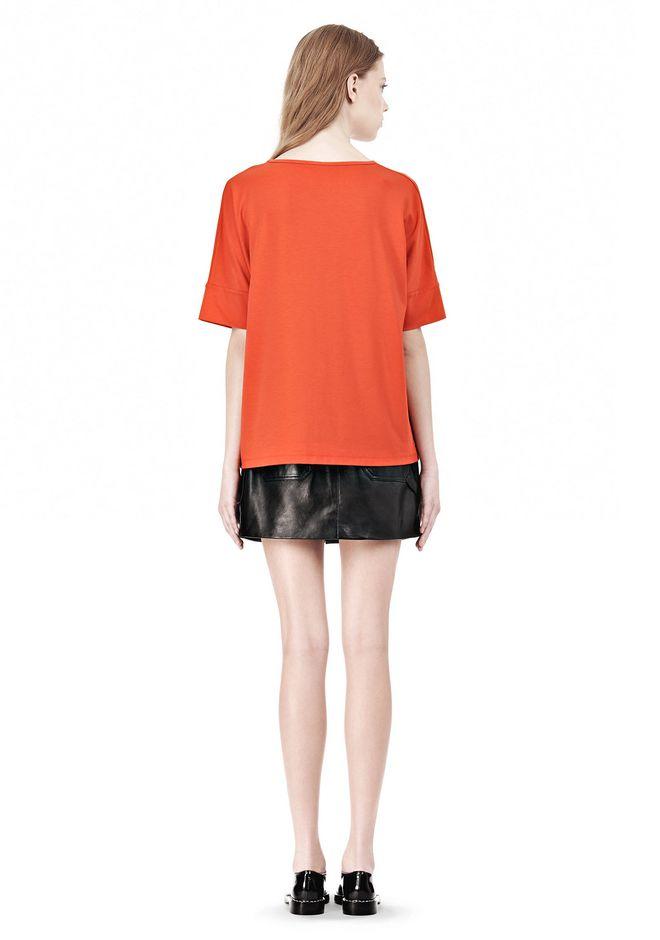 T by ALEXANDER WANG LUX PONTE DOLMAN CREWNECK SHORT SLEEVE TEE Short sleeve t-shirt Adult 12_n_r