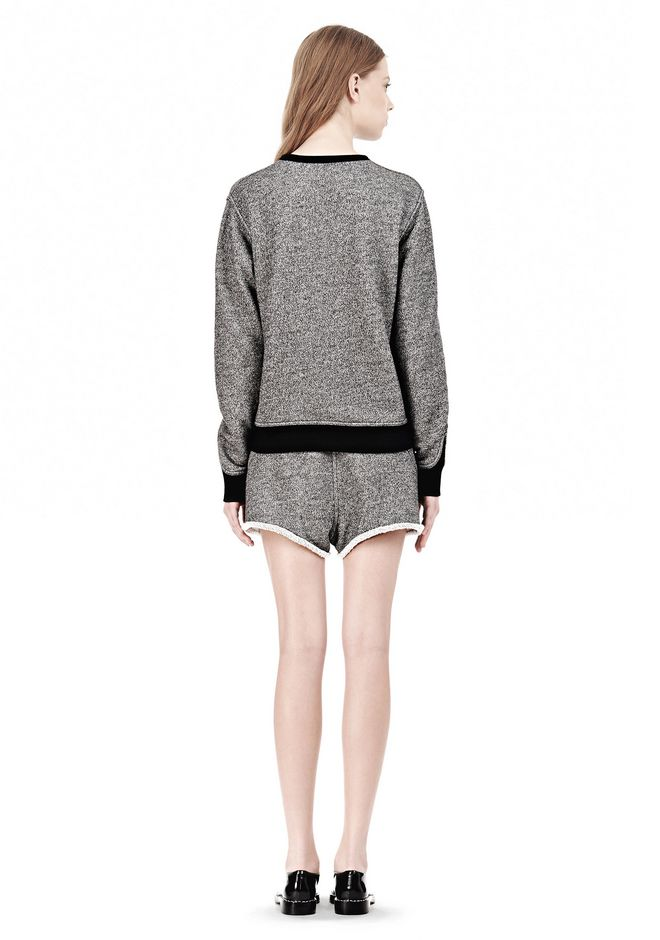 T by ALEXANDER WANG  FRENCH TERRY CREWNECK SWEATSHIRT SWEATER Adult 12_n_r