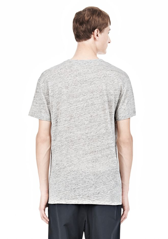T by ALEXANDER WANG HEATHER LINEN SHORT SLEEVE TEE TOP Adult 12_n_d