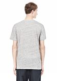 T by ALEXANDER WANG HEATHER LINEN SHORT SLEEVE TEE TOP Adult 8_n_d