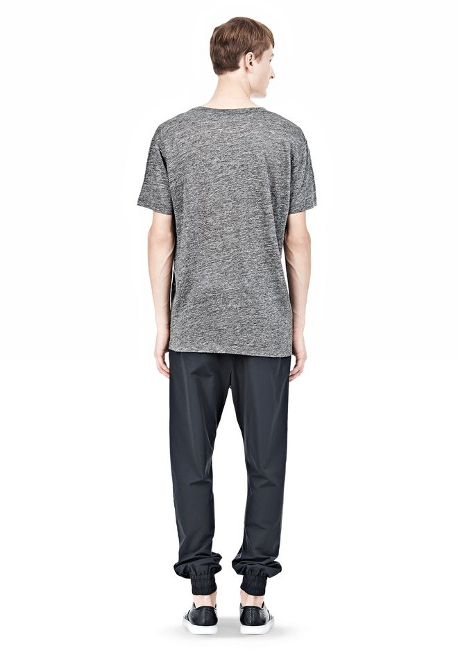 T by ALEXANDER WANG HEATHER LINEN SHORT SLEEVE TEE TOP Adult 12_n_r