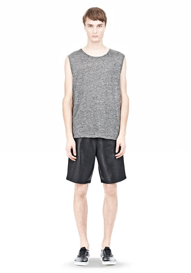 T by ALEXANDER WANG HEATHER LINEN MUSCLE TANK TEE Adult 12_n_f