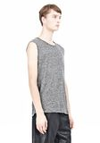 T by ALEXANDER WANG HEATHER LINEN MUSCLE TANK TEE Adult 8_n_a