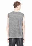 T by ALEXANDER WANG HEATHER LINEN MUSCLE TANK TEE Adult 8_n_d